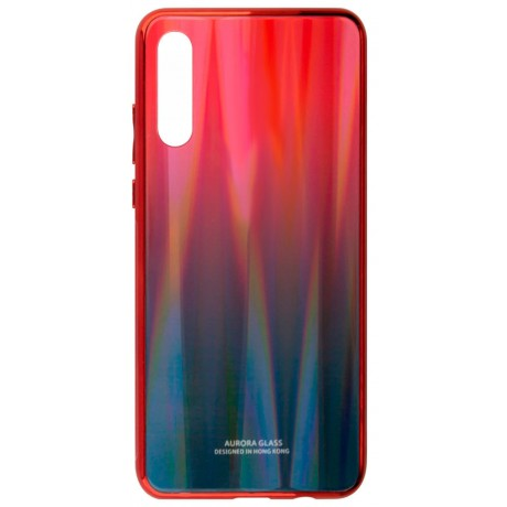 Чехол-бампер Aurora Glass для Huawei P30 (красно-синий)